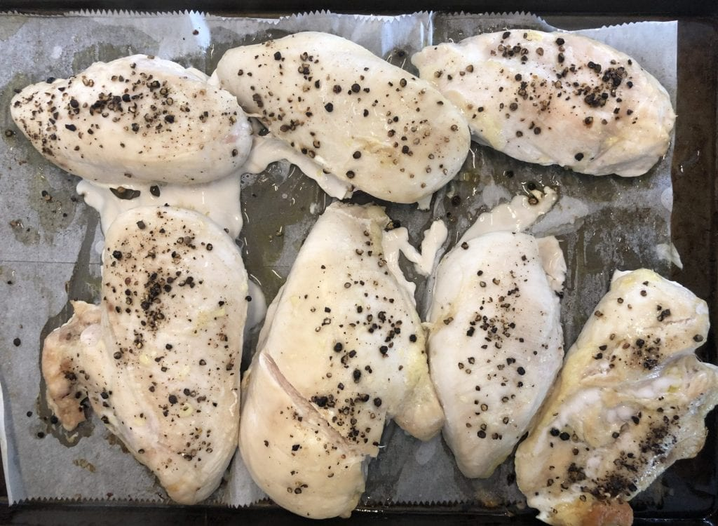 Baked Chicken Breast on Sheet Pan